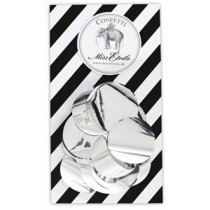 Конфетти для украшения праздника серебряное