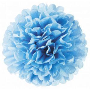 Цветок насыщенно голубой бумажный