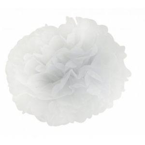 Цветок белый бумажный