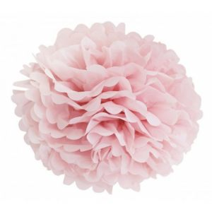 Цветок розовый бумажный