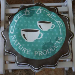 Фигурная сидушка на стул Мятный кофе