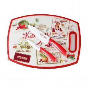 Набор для кухни из разделочной доски и 2 кухонных ножей Винтаж