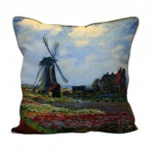 Льняная подушка  Тюльпаны Голландии