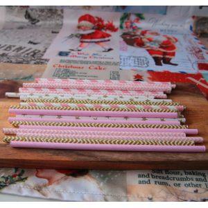 Набор соломинок Праздник в розовом