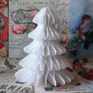 Бумажный декор Елочка белая