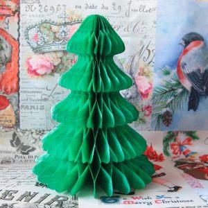 Бумажный декор Елочка зеленая