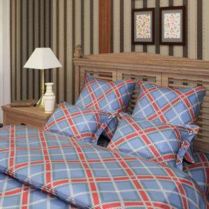 """Комплект постельного белья """"Шотландка"""" синий"""