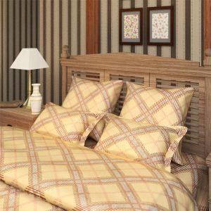 """Комплект постельного белья """"Шотландка"""" бежевый"""