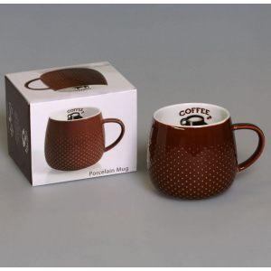 """Кружка 320мл """"Кофе"""" коричневый"""