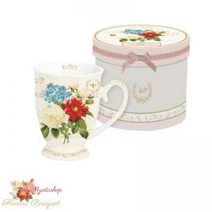 """Чайная кружка """"Букет цветов"""""""