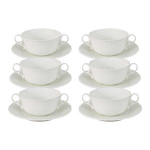 Набор из 6 суповых чашек с блюдцами Шёлк
