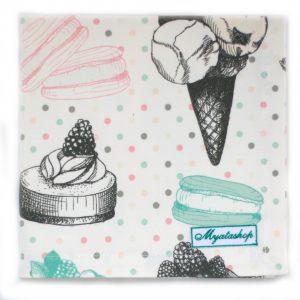Салфетка Мороженое, пирожное
