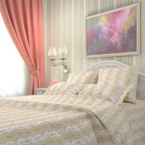 """Комплект постельного белья """"Эльфийская розочка"""" бежевый"""