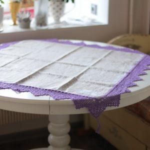 Квадратная скатерть-салфетка Фиолет