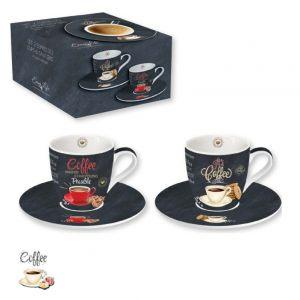 Набор из 2 кофейных чашек с блюдцами Итальянский кофе