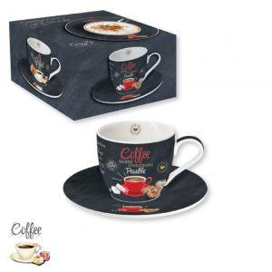 """Чашка с блюдцем """"Красная чашка"""" Итальянский кофе 250 мл"""