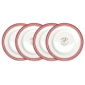Набор из 4-х десертных тарелок Французская кухня