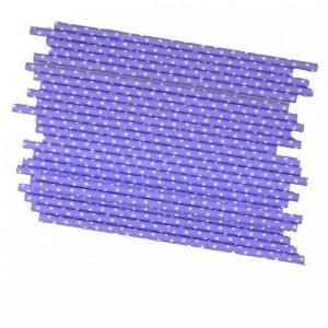 Трубочки для напитков в фиолетовые в горошек