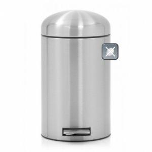 Ведро для мусора Brabantia Retro - Matt Steel Fingerprint Proof (матовая сталь с защитой от отпечатков пальцев)
