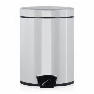 Бак для мусора Brabantia с педалью с металлическим внутренним ведром - Brilliant Steel (полированная сталь)