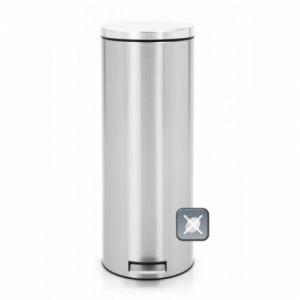 Бак для мусора Brabantia с педалью SLIM MC - Matt Steel Fingerprint Proof (матовая сталь с защитой от отпечатков пальцев)