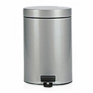 Бак для мусора Brabantia с педалью - Metallic Grey (серый металлик)