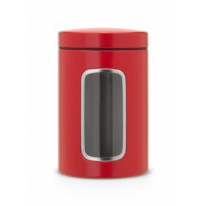Контейнер для сыпучих продуктов с окном Brabantia 1,4л - Passion Red (красный)
