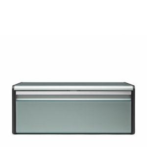 Хлебница с откидной крышкой Brabantia - Metallic Mint (мятный металлик)