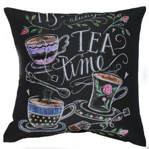 Декоративная подушка чайная