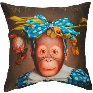 Подушка с нарядной обезьянкой