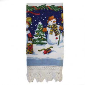 "Кухонное полотенце ""Веселый снеговик"""