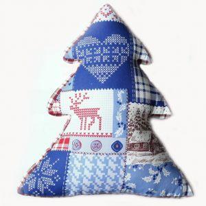 """Декоративная подушка-елка """"С Новым Годом!"""""""