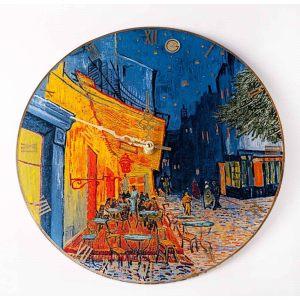 Настенные стеклянные часы Ночное кафе 30,5 см