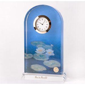 Настольные стеклянные часы Лилии 18,5 см