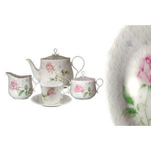 Чайный сервиз 17 предметов на 6 персон Апрельская роза