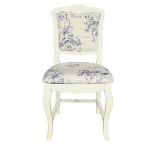 """Стул с мягким сиденьем Mobiler de Maison Blanc bonbon """"Белая карамель"""" фиолетовый"""