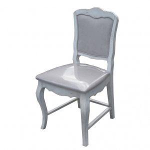 """Стул с мягким сиденьем Mobiler de Maison Blanc bonbon """"Белая карамель"""""""