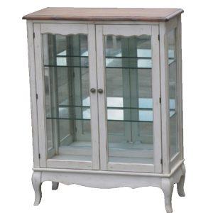 """Стеклянная витрина (двойная) Mobiler de Maison Blanc bonbon """"Белая карамель"""""""