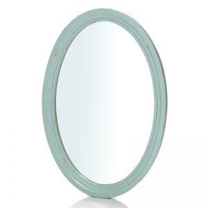 """Овальное зеркало Mobiler de Maison Bleu aquamarine """"Морской голубой"""""""