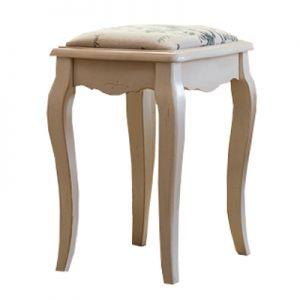 """Табурет с мягким сиденьем к макияжному столику Mobiler de Maison Blanc bonbon """"Белая карамель"""" серый"""