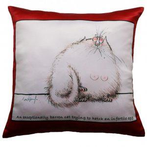 Прикольная декоративная подушка Кот-5