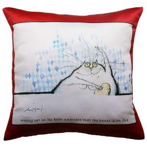 Прикольная декоративная подушка Кот-12