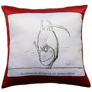 Прикольная декоративная подушка Кот-14