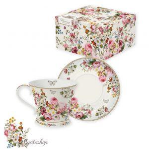 """Чайная пара """"Цветочный карнавал"""" в подарочной коробке"""