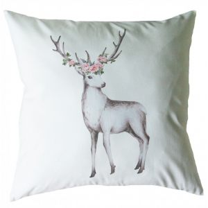 Декоративная подушка с олененком