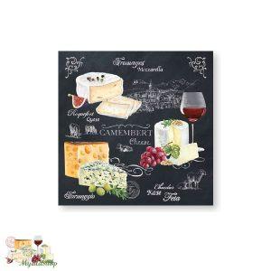 Бумажные салфетки Мир сыров
