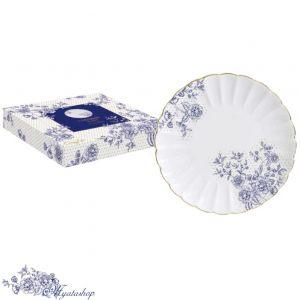 Тарелка десертная Роял BLUE PEONIES (синие цветы)
