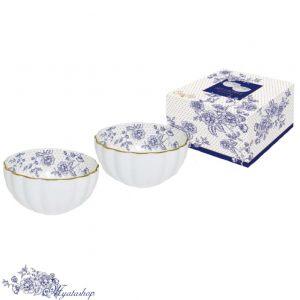 Набор салатников Роял BLUE PEONIES (синие цветы)