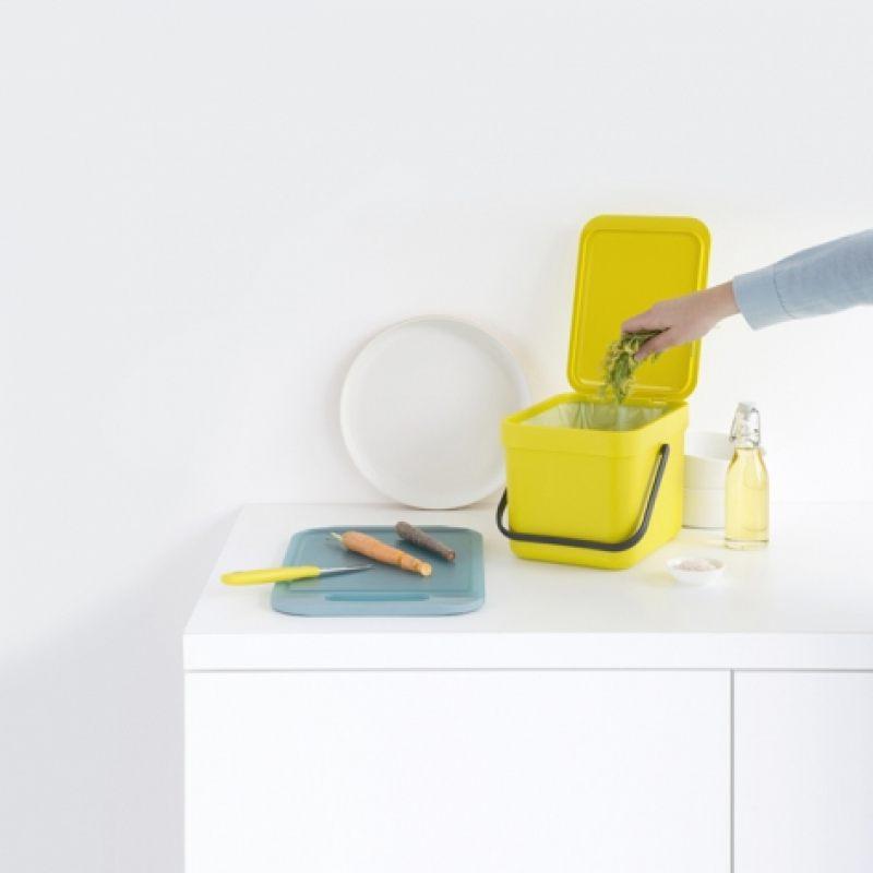 Ведро для мусора Brabantia SORT&GO - Yellow (желтый)