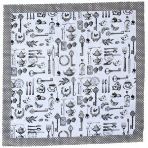 """Текстильная салфетка """"Графичная классика"""""""